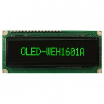 OLED 16x1 COB Character Display 66x16mm with built in Controller WS0010