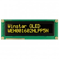 OLED 16x2 COB Character Display 98x21mm with built in Controller WS0010