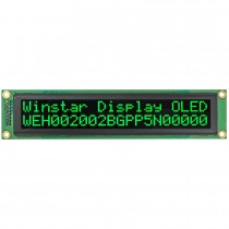OLED 20x2 COB Character Display 149x23mm with built in Controller WS0010