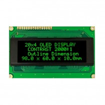 OLED 20x4 COB Character Display 77x25.2mm with built in Controller WS0010