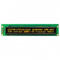 OLED 20x4 COB Character Display 154.4x16.5mm with built in Controller WS0010