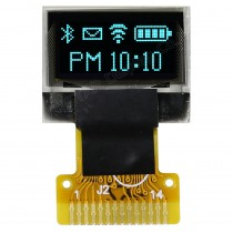 "OLED 64x32 monochrome COG Graphic Display 0.49"" with built in Controller SSD1306BZ"