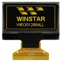 """OLED 128x64 monochrome COG Graphic Display 1.28"""" with built in Controller SH1106G"""