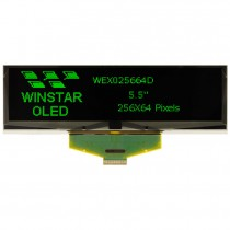 """OLED 256x64  monochrome TAB Graphic Display 5.5"""" with built in Controller SSD1322UR1"""