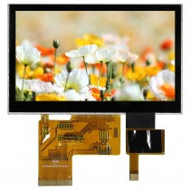 "TFT 4.3"" Panel only + CTS, 320 nits, Transmi, Wide view angle, Resolution 480x272"
