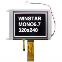 5.7 inch TFT Monochrome,700 nits,Resistiv Touch Panel,MCU,320x240,12H,