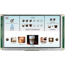 "TFT 7"" Panel + Control Board (RS232), 460 nits, Transmi, Resolution 800x480"