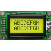 LCD 8x2 Y/G LED STN Transfl NT 6:00 EN/EP