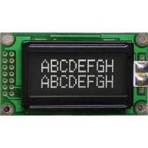 8x2 LED white,FSTN neg.black,transmissive WT6:00