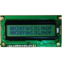 LCD 16x2, Y/G LED, STN Reflective, NT, 6:00 EN/JP -30C- +70C