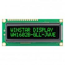 VATN LCD 16x2 Character Display, 66x16mm, Green LED, VA neg, Trans, W.T., 12 :00, Controller ST7066