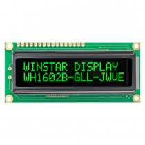 VATN LCD 16x2 Character Display, 66x16mm, Green, Blue, Red, White or Y-G, built in Controller ST7066