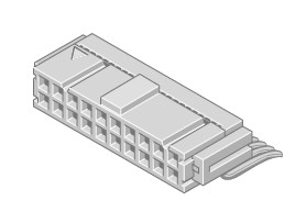 Flakafix Buchsenleiste IDC 40-pol