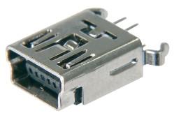USB, Typ B-Mini, 5 pol. SMD, Top Entry