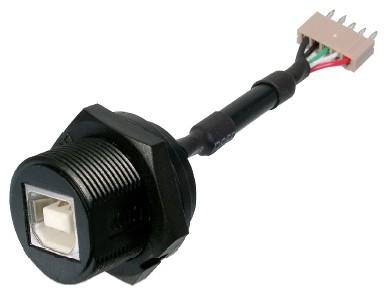 USB, Typ B, Konfektionsversion, IP67