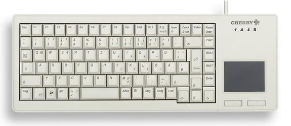 CHERRY Keyboard XS TOUCHPAD USB Touchpad hellgrau DE Layout