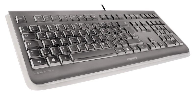 CHERRY Keyboard KC 1068 USB with IP68 Protection schwarz DE Layout