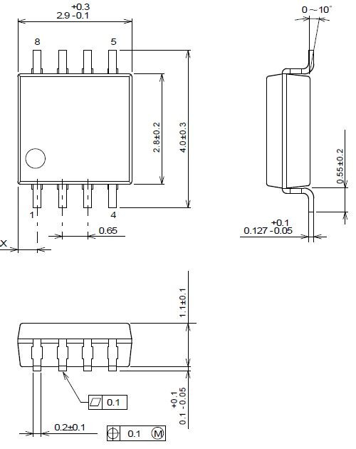 NJM3472R Dual High Speed Single Supply Operational Amplifier VSP8