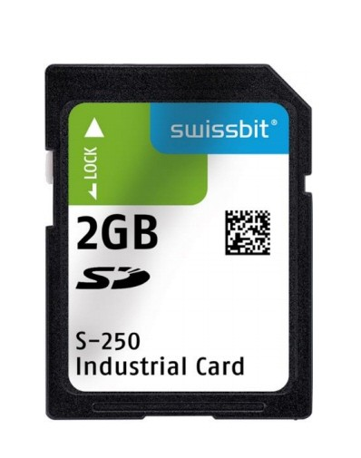 Industrial SD Card, S-250, 512 MB, SLC Flash, -40°C to +85°C