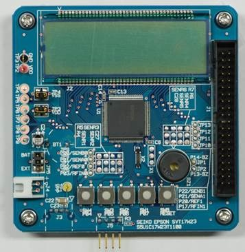 S1C17W23 Evaluation Board,ICD dot m.LCD