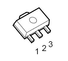 3-Terminal Positive Voltage Reg. SOT-89 pb-free