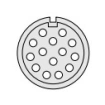 Baureihe 209 Buchseneinsatz 14-pol Lötanschluss