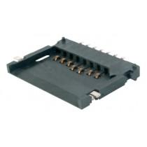 Multi Media Card Socket 7-pin, 15mü Au, sel.