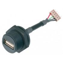 USB, Typ A, Konfektionsversion, IP67