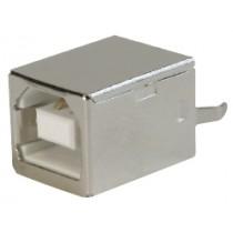USB, Typ B, Löt, Top Entry, 4-polig