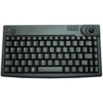 86 Key Size Minimized Trackball Keyboard, PS/2, black, Swiss layout