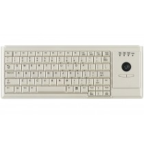 83 Key Notebook Style Trackball Keyboard, USB, light grey, Swiss layout