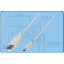 USB Kabel USB A/Stecker zu B-Mini/Stecker,