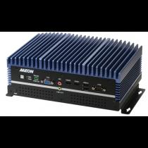 Fanless Embedded Box PC, LAN x 9, USB 3.0 x 8, USB 2.0 x 2, RS232/422/485 x 1, HDMI x 2, VGA x 1