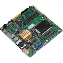 Mini-ITX.H110,6th gen.,2HDMI,2GbE,2COM,10USB,2xSATA3,mSATA,1xMini card,12VDC