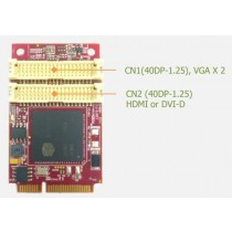 mPCIe to 2x VGA & HDMI Wide Temp.
