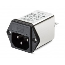 IEC with 1 Fuse Holder 250VAC, 6A, Snap-in