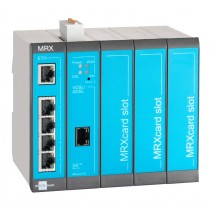 Industrial DSL Router 5 LAN ports, 2 digital inputs, 3 Slots for MRcards, Annexes B/J
