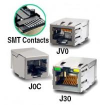 SMT 1x1 tab up 5-core w/LEDs 10/100
