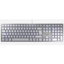 CHERRY Keyboard KC 6000 SLIM USB silver/white CH Layout
