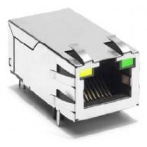 THROUGH HOLE 1X1 TAB UP 1000-TX POE, Y-G/G LEDs