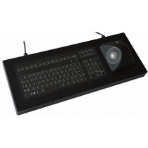Keyboard with Ergo-Trackball 50mm IP67 enclosed USB German-Layout