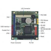 PC/104, Vortex86DX 600Mhz, 128MB DDR2, -20°C ~ +70°C