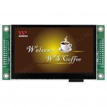 "TFT 4.3"" Panel + Control Board (RS232), 500 nits, Transmi, Resolution 480x272"