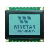LCD 128x64 LED White FSTN Pos Transflectiv, 4 icons, 06:00