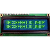LCD 16x2, Y/G LED, 100mA, Blue, STN Neg., WT