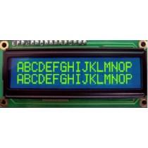 LCD 16x2, Y/G LED, STN Pos. Y/G, Transfl, WT