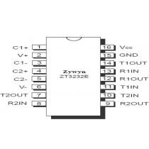 RS232 3V Transceiver 2D/2R, 16 SSOP, -40..+85C, TR