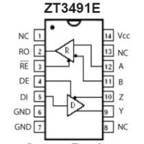 RS485 Full Duplex 1D/1R 10Mbps