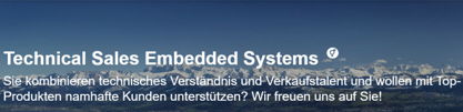 Offene Stelle Technical Sales Embedded