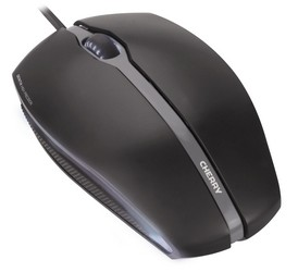 CHERRY Mouse GENTIX USB corded optical schwarz illuminated 3 buttons